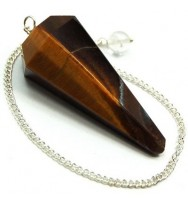Tiger Eye 6 Side Pendulum