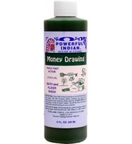 MONEY DRAWING INDIO POWERFUL INDIAN SPIRITUAL BATH & FLOOR WASH  8 fl. oz. (236ml)