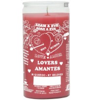 14 DAY CANDLE ADAM & EVE PINK