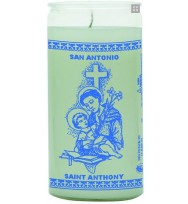 14 DAY CANDLE ST ANTHONY WHITE