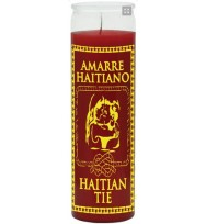 7 DAY CANDLE HAITIAN TIE RED