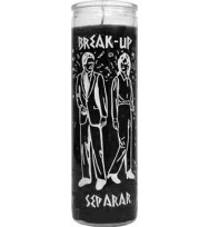 7 DAY GLASS CANDLE BREAK UP – BLACK 2 1/2″ wide and 8 1/8″ tall