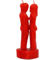 7 INCH MAN & WOMAN LOVERS IMAGE CANDLE – RED 7″ Tall (17.78cm)