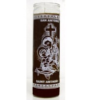 7 DAY RELIGIOUS CANDLE ST. ANTHONY – BROWN 2 1/2″ wide and 8 1/8″ tall
