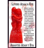 9 INCH LOVERS ADAM & EVE RITUAL IMAGE CANDLE – RED