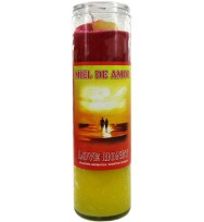SCENTED COCKTAIL CANDLE LOVE HONEY – YELLOW & RED