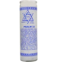 7 DAY 23RD PSALM RELIGIOUS CANDLE – WHITE 2 1/2″ wide and 8 1/8″ tall