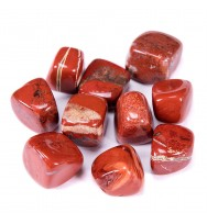 Bingcute Brazilian Tumbled Polished Natural Red Jasper Stones 1/2 Ib For Wicca, Reiki, and Energy Crystal Healing (Red Jasper)