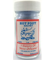 7 SISTERS OF NEW ORLEANS SACHET POWDER HOT FOOT  1oz (28.3g)