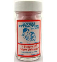 7 SISTERS OF NEW ORLEANS SACHET POWDER LOVERS/ATTRACTION 1oz (28.3g)