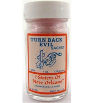 7 SISTERS OF NEW ORLEANS SACHET POWDER TURN BACK EVIL 1oz (28.3g)