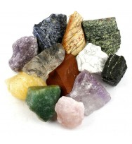 "Crystal Allies Materials: 3 Pounds (BEST VALUE) Bulk Rough 10-Stone Assorted Brazilian Mix w/ Amethyst, Clear Quartz, Rose Quartz, Blue Quartz, Green Quartz, Sodalite, Orange Calcite, Fuchsite, Red Jasper & Citrine - Large 1"" Natural Raw Stones"