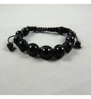 Black Rosary Prayer Bracelet
