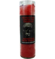 SCENTED COCKTAIL CANDLE PROTECTION FROM ENEMIES – RED & WHITE