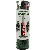 SCENTED PALM COCKTAIL CANDLE TRIPLE ACTION – GREEN