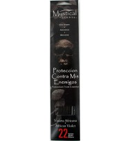 PROTECTION FROM ENEMIES INCENSE STICKS – AFRICAN VIOLET  22 Sticks Per Pack, 9″ (22.86cm) Long