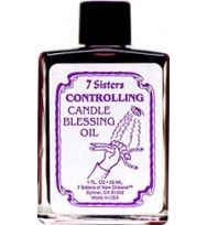 7 SISTERS CANDLE BLESSING OIL CONTROLLING  1oz (28.3ml)