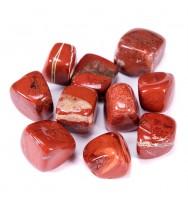Bingcute Brazilian Tumbled Polished Natural Red Jasper Stones 1/2 Ib For Wicca, Reiki, and Energy Crystal Healing (Red Jasper)